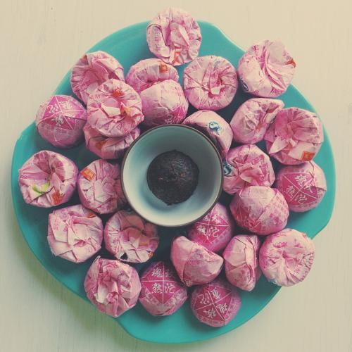 шу пуэр прессованный То Ча с розой