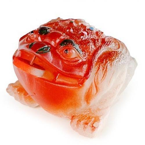 Чайная фигурка-хамелеон 'Чань Чу' оранжевая