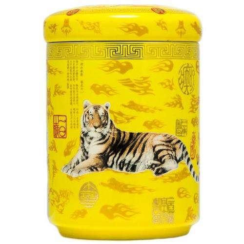 """Фарфоровая чайница """"Тигр Бай-Ху"""""""
