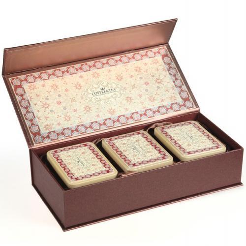 """Подарочная коробка для чая с тремя банками """"Premium"""""""