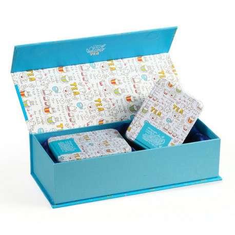 Подарочная коробка для чая с двумя банками