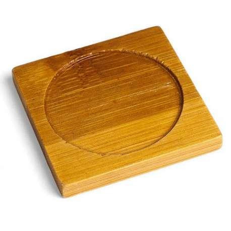 Подставка для пиалы, бамбук 9*9 см.