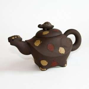 Глиняный заварной чайник «Гадание на черепахе», 350мл.