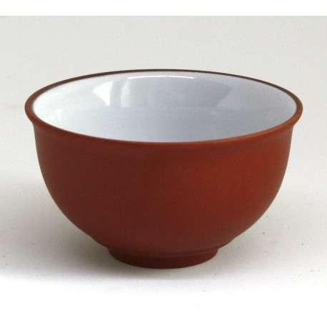 Пиала эмалированная из исинской глины, 80 мл (красная)