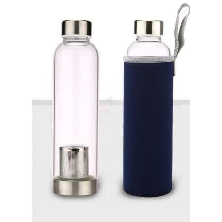 Бутылка для чая стеклянная (с ситечком и чехлом)