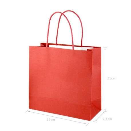 Пакет крафт красный
