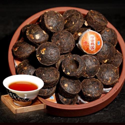 Пуэр с мандарином, мини-точа (шу)