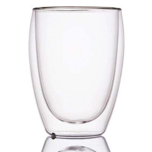 Стеклянный стакан с двойными стенками для чая, 340мл.