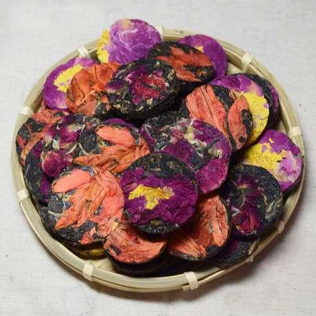 Мини-блинчики с цветами (ассорти из 3-ех видов)