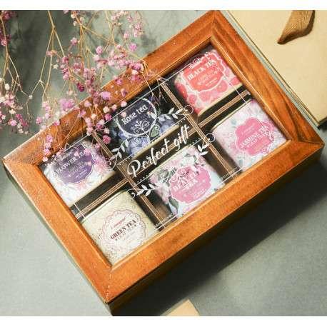 Чай подарочный в деревянной коробке