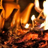 Варка пуэра на огне