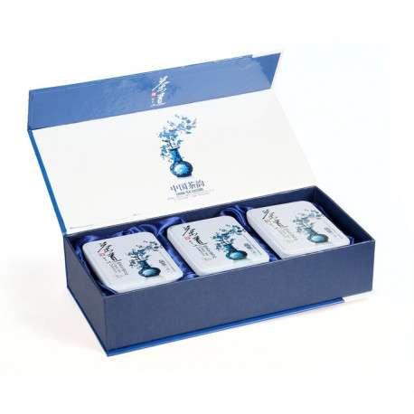 Подарочная коробка для чая с тремя банками