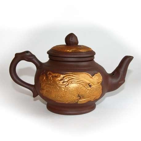 Глиняный исинский чайник «Время дракона», 550 мл.