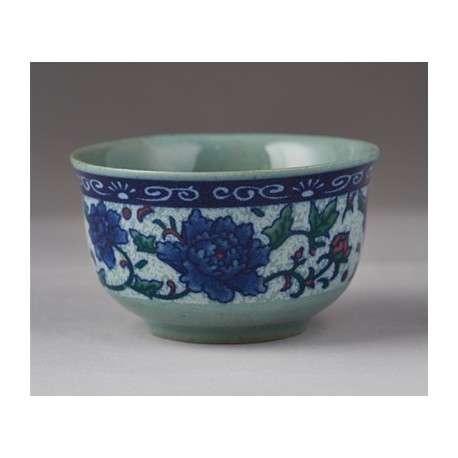 Чайная пиала с цветами, 25 мл