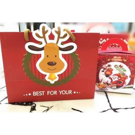 Пакет новогодний (с оленем)