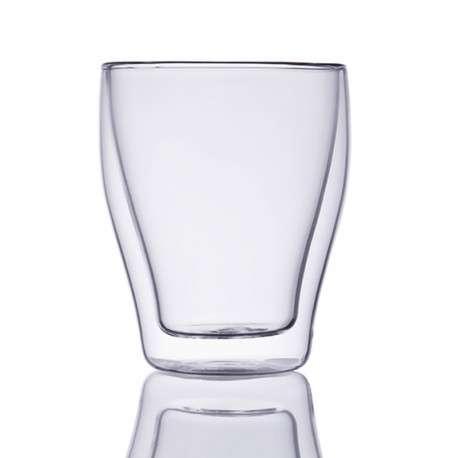 Прозрачный стакан с двойными стенками, 260мл.