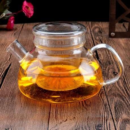Стеклянный заварочный чайник, 650 мл.