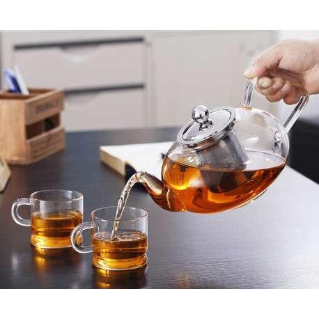 Заварочный чайник из стекла с фильтром, 1200мл.