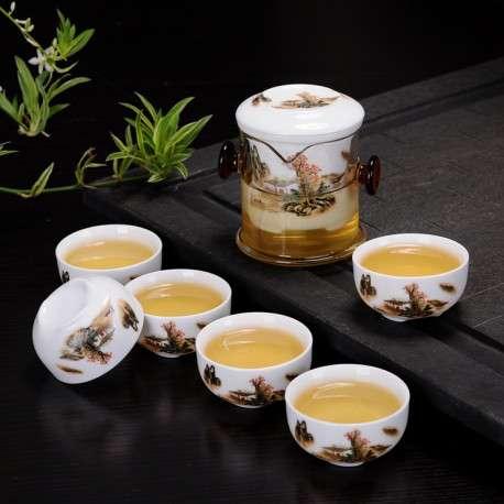 Колба для заваривания чая и 6 пиал