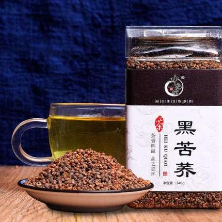 Темный гречишный чай в банке, 340 гр. (урожай 2018)