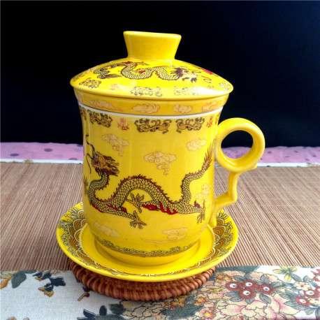 Чашка для заваривания чая с ситечком фарфоровым