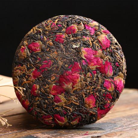 Красный чай с бутонами роз, бин ча