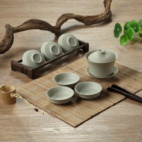 Набор для чайной церемонии: гайвань и 6 пиал в японском стиле