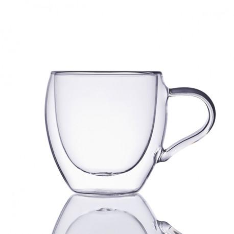 Чашка с двойными стенками из стекла, 280 мл.