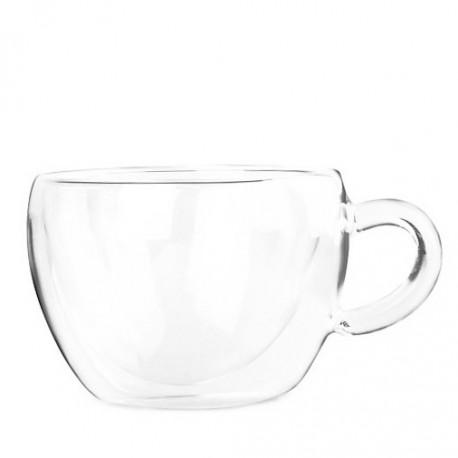 Необжигающая стеклянная чашка с двойными стенками, 150мл.