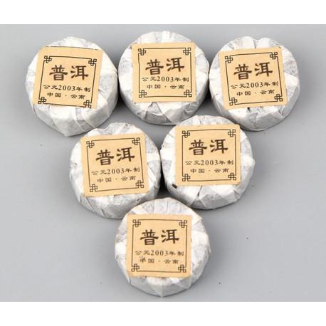 Пуэр с рисом и лотосом, мини-точа