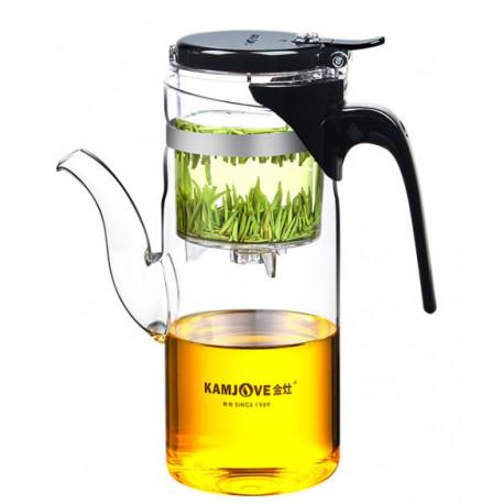 Заварочный чайник с кнопкой Kamjove TP-839a, 750 мл.