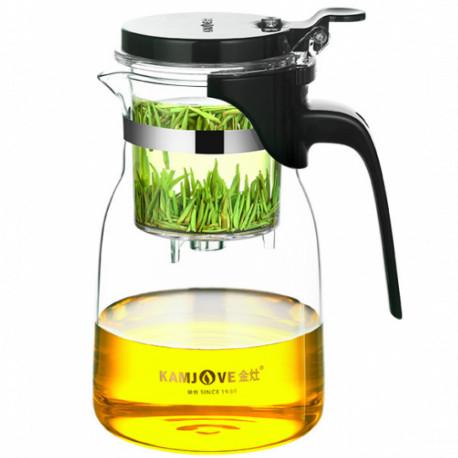 Заварочный чайник Гунфу с кнопкой (типот) Kamjove, 900мл