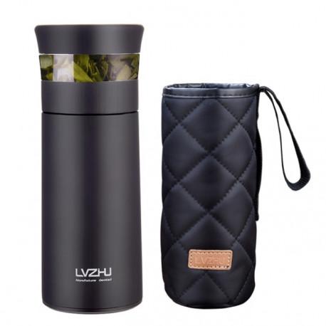 Бутылка-термос для заваривания чая методом пролива с чехлом