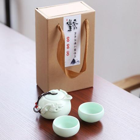 Гайвань-чайник и две пиалы (керамика)