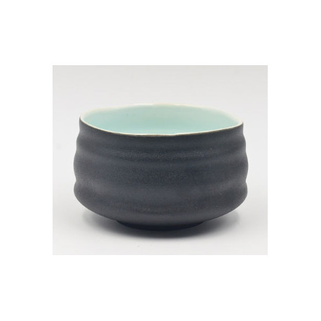 Чаша для матча (тяван), черная/голубая