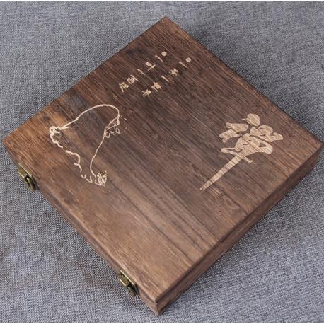 Деревянная шкатулка для блина пуэра