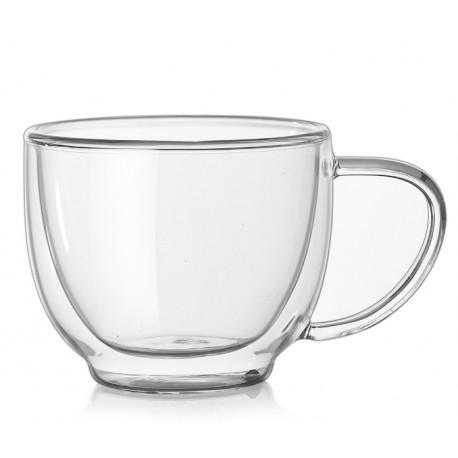 Стеклянная чашка с двойными стенками, 250 мл