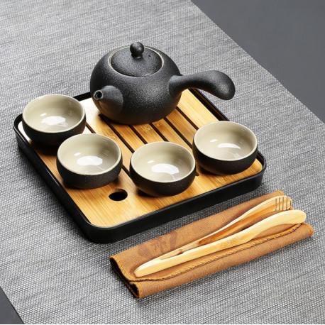 Набор для чайной церемонии в японском стиле (с чехлом)
