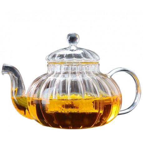 Заварной чайник из стекла «Цветок лотоса» 600 мл.