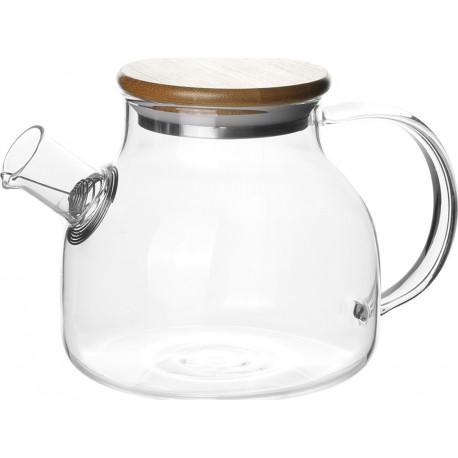 Стеклянный заварочный чайник Бочонок 900 мл., CH-1638