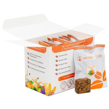 Прессованный чай Травяные сборы Ассорти с ягодами и фруктами