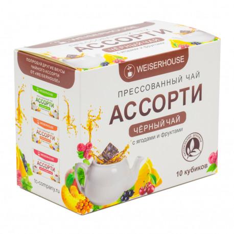 Чай черный прессованный Ассорти с ягодами и фруктами
