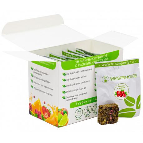 Зеленый прессованный чай Ассорти с ягодами и фруктами