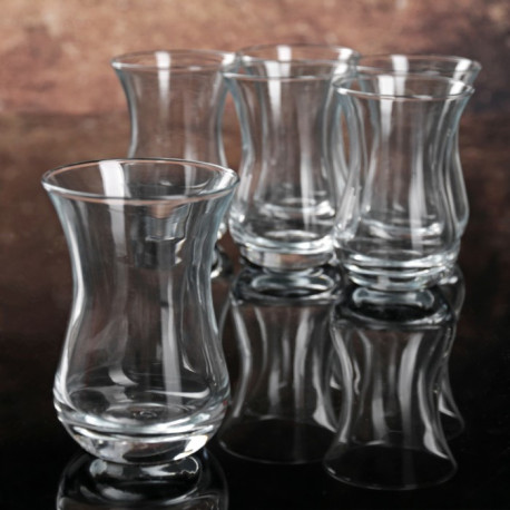 Набор 6-ти чайных стаканов емк.150 мл, d-6,6 см, h-9,6 см в упаковке