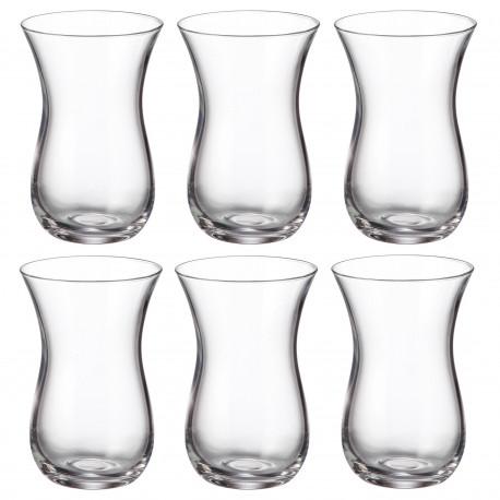 Набор 6-ти чайных стаканов емк.150 мл, d-6 см, h-9 см в упаковке