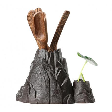 Инструменты для чайной церемонии с глиняной подставкой
