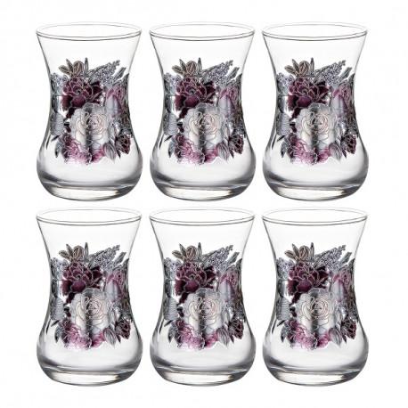Набор 6-ти чайных стаканов 150 мл., Романс