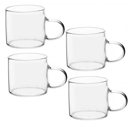 Кружки стеклянные для чая или кофе (набор 4 кружки) по 50 мл.