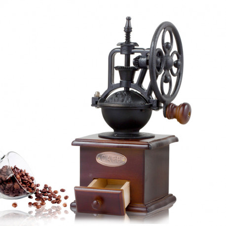 Кофемолка ручная с колесиком