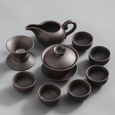 Набор посуды для чайной церемонии из исинской глины на 6 персон